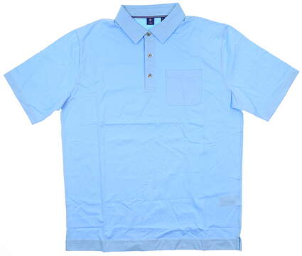 New Mens Footjoy 1857 Golf Polo Large L Blue MSRP $135