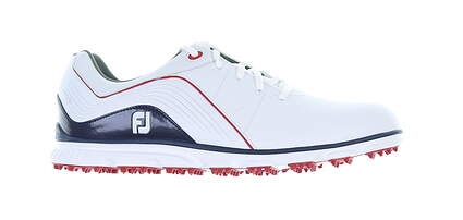 New Mens Golf Shoe Footjoy 2019 Pro SL Medium 9 White/Blue MSRP $150 53269