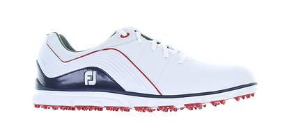 New Mens Golf Shoe Footjoy 2019 Pro SL Medium 9.5 White/Blue MSRP $150 53269