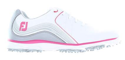 New Womens Golf Shoe Footjoy 2019 Pro SL Medium 7 White/Pink MSRP $150 98101