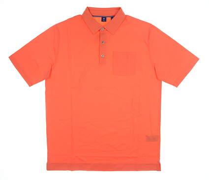 New Mens Footjoy 1857 Polo Large L Orange MSRP $135