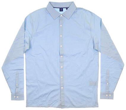 New Mens Footjoy 1857 Button Up Large L Blue MSRP $165