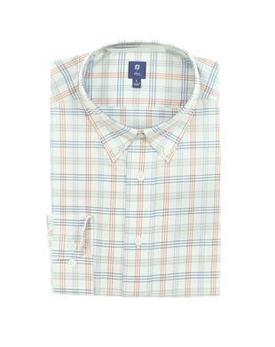 New Mens Footjoy 1857 Stretch Cotton Twill Button Up Large L Multi MSRP $165