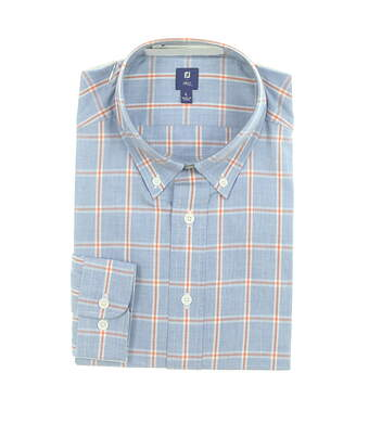 New Mens Footjoy Button Up Large L Multi MSRP $165