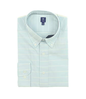 New Mens Footjoy 1857 Stretch Cotton Twill Button Up Large Blue MSRP $165 27870