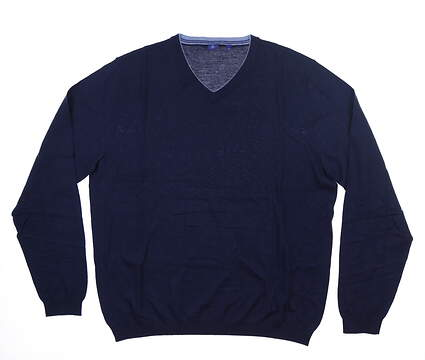 New Mens Footjoy 1857 Sweater Large L Navy Blue MSRP $325