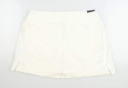 New Womens Nike Golf Skort Large L Ivory MSRP $70