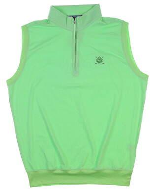 New W/ Logo Mens Turtleson Vest Medium M Green MSRP $94 MS17K40