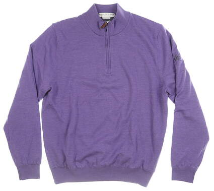 New W/ Logo Mens MARTIN GOLF 1/4 Zip Sweater Medium M Purple MSRP $189 172M351