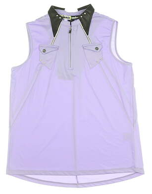 New Womens Jamie Sadock Sleeveless Golf Polo Medium M Violetta MSRP $95 72221