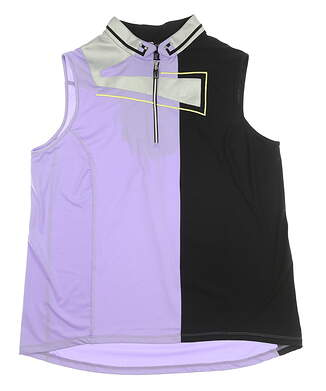 New Womens Jamie Sadock Sleeveless Golf Polo Large L Violetta MSRP $95 72203