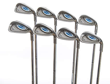 Ping i5 Iron Set 3-PW Dynalite Gold SL X100 Steel X-Stiff Right Handed White Dot 38.5in