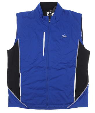 New W/ Logo Mens Footjoy Softshell Golf Vest Small S Blue MSRP $145 24952