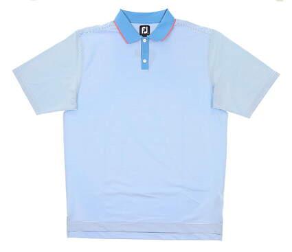 New Mens Footjoy Golf Polo Large L Blue MSRP $75