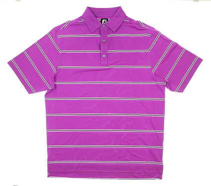New Mens Footjoy Golf Polo Large L Purple MSRP $75