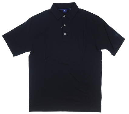 New W/ Logo Mens Footjoy 1857 Collection Golf Polo Large L Navy Blue MSRP $155