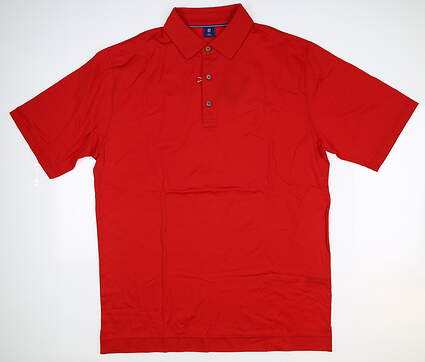New W/ Logo Mens Footjoy 1857 Collection Golf Polo Medium M Red MSRP $155 25640