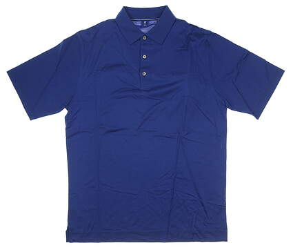 New W/ Logo Mens Footjoy 1857 Collection Golf Polo Large L Blue MSRP $155