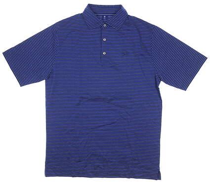 New W/ Logo Mens Footjoy 1857 Collection Golf Polo Medium M Blue MSRP $155