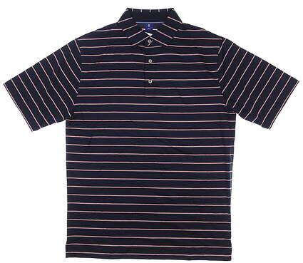 New W/ Logo Mens Footjoy 1857 Collection Golf Polo Medium M Navy MSRP $155 25650