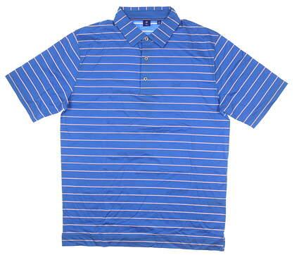 New W/ Logo Mens Footjoy 1857 Collection Golf Polo Medium M Blue MSRP $155 25853
