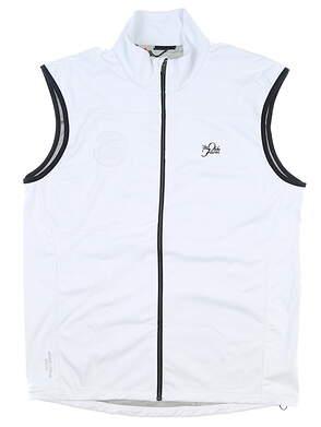 New W/ Logo Mens Galvin Green Lazer Bodywarmer Vest Large L White MSRP $285 G786911B7