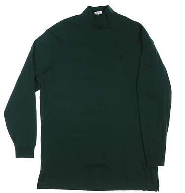 New W/ Logo Mens Ralph Lauren Long Sleeve Mock Neck Large L Green MSRP $75