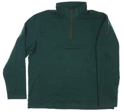 New W/ Logo Mens Ralph Lauren 1/4 Zip Golf Pullover XX-Large XXL Green MSRP $155