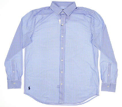 New Mens Ralph Lauren Button Down Large L Blue MSRP $125