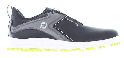 New Mens Golf Shoe Footjoy SuperLites XP Medium 9 Black MSRP $110 58075
