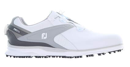 New Mens Golf Shoe Footjoy Pro SL BOA Medium 11.5 White MSRP $190 53817