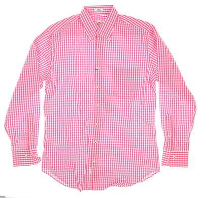 New Mens Peter Millar Woven Button Down Medium M Pink MSRP $120