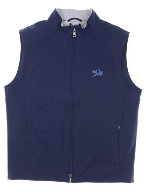 New W/ Logo Mens Peter Millar Stealth Hybrid Vest Large L Navy Blue MSRP $240 MS19EZ501