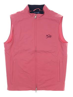 New W/ Logo Mens Peter Millar Stealth Hybrid Golf Vest Medium M Pink MSRP $240 MS19EZ501
