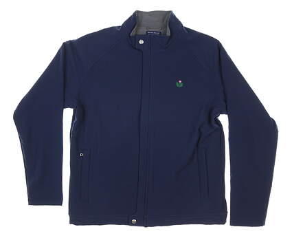 New W/ Logo Mens Peter Millar Storm Jacket Medium M Navy Blue MSRP $240 MF19EZ503