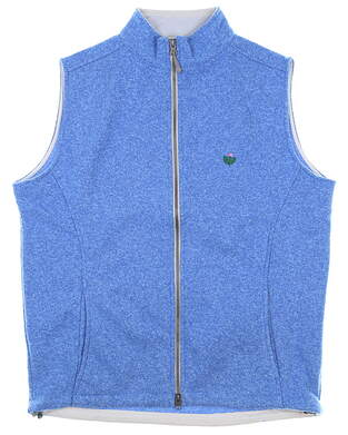 New W/ Logo Mens Peter Millar Golf Vest Medium M Blue MSRP $165