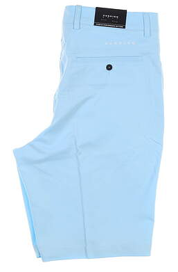 New Mens Dunning Heathered Golf Shorts 32 Blue MSRP $80 D7S17H601