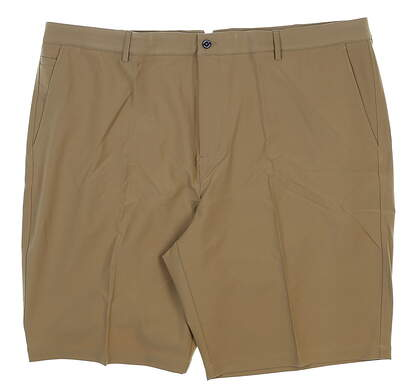 New Mens Dunning Player Fit Woven Golf Shorts 42 Dark Beige MSRP $80 D7S13H055