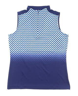 New Womens Tail Kay Sleeveless Polo Medium M Blue MSRP $89 GA1923-H489