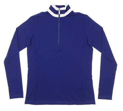 New Womens Ralph Lauren 1/4 Zip Pullover Small S Navy Blue MSRP $128