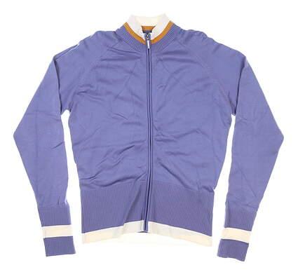 New Womens Nike Full Zip Mock Neck Large L Purple MSRP $100 288483