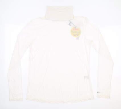 New Womens Jamie Sadock Sunsense Long Sleeve Large L White MSRP $65 92107