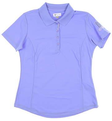 New W/ Logo Womens Greg Norman Sleeveless Polo Small S Purple MSRP $39