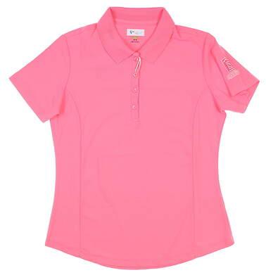 New W/ Logo Womens Greg Norman Sleeveless Polo Medium M Pink MSRP $39