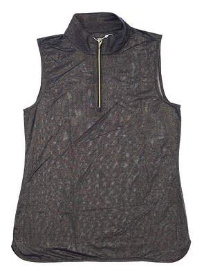 New W/ Logo Womens Greg Norman Fashion Sleeveless Polo Small S Navy Blue/Gold MSRP $70