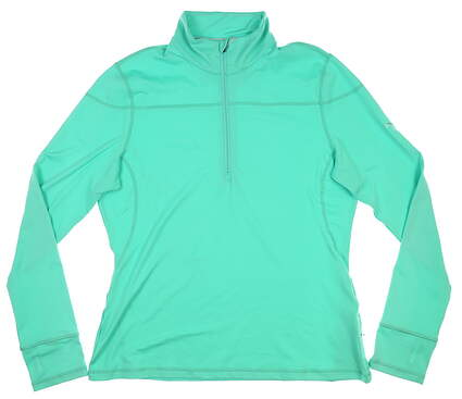 New Womens Puma 1/4 Zip Pullover X-Large XL Mint Leaf MSRP $65 570544