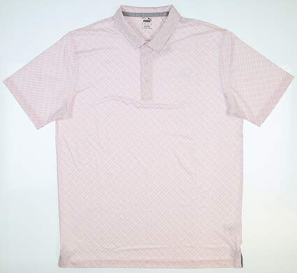 New Mens Puma Mattr Leucadia Polo Medium M Pink Lady MSRP $75 599116