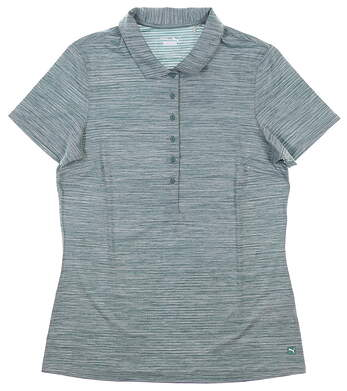 New Womens Puma Daily Polo Small S Blue Spruce MSRP $60 595826