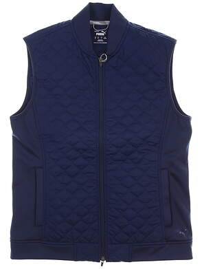 New Mens Puma PrimaLoft Stlth Vest Medium M Peacoat MSRP $120 597587