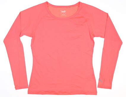 New Womens Puma Long Sleeve Sun Crew Neck Small S Ignite Pink MSRP $60 577901